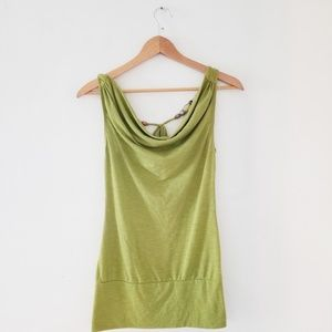 Womans olive green top